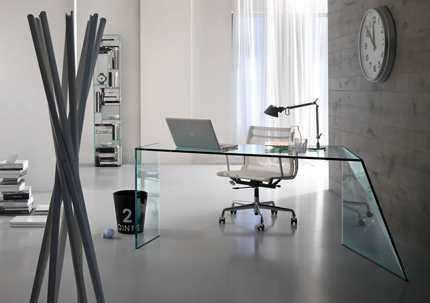 Home office in vetro